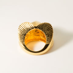 Lomasi Chunky 18k Gold Statement Ring - Back | Women's Jewelry | cocheta.net