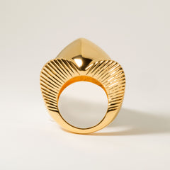 Lomasi Chunky 18k Gold Statement Ring - Standing | Women's Jewelry | cocheta.net