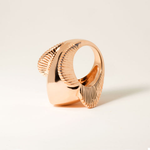 Lomasi 18k Rose Gold Statement Ring - Angle | Women's Jewelry | cocheta.net