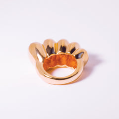 Chaschunka Chunky 18k Rose Gold Ring - Back | Women's Jewelry | cocheta.net