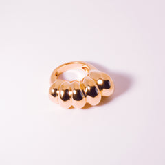 Chaschunka Chunky 18k Rose Gold Ring - Top | Women's Jewelry | cocheta.net