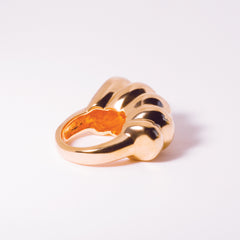 Chaschunka Chunky 18k Rose Gold Ring - Side | Women's Jewelry | cocheta.net