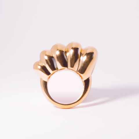 Chaschunka Chunky 18k Rose Gold Ring - Front | Women's Jewelry | cocheta.net
