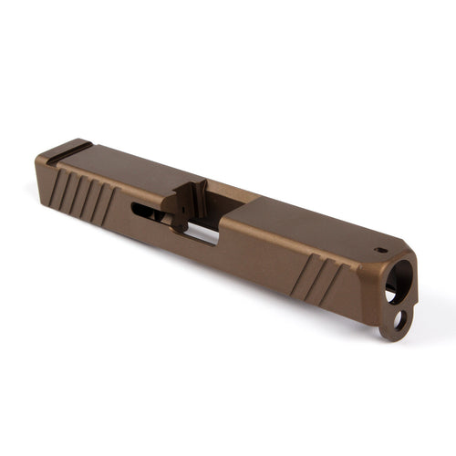 Alpha Stripped G19 EDC V1 Slide - Burnt Bronze