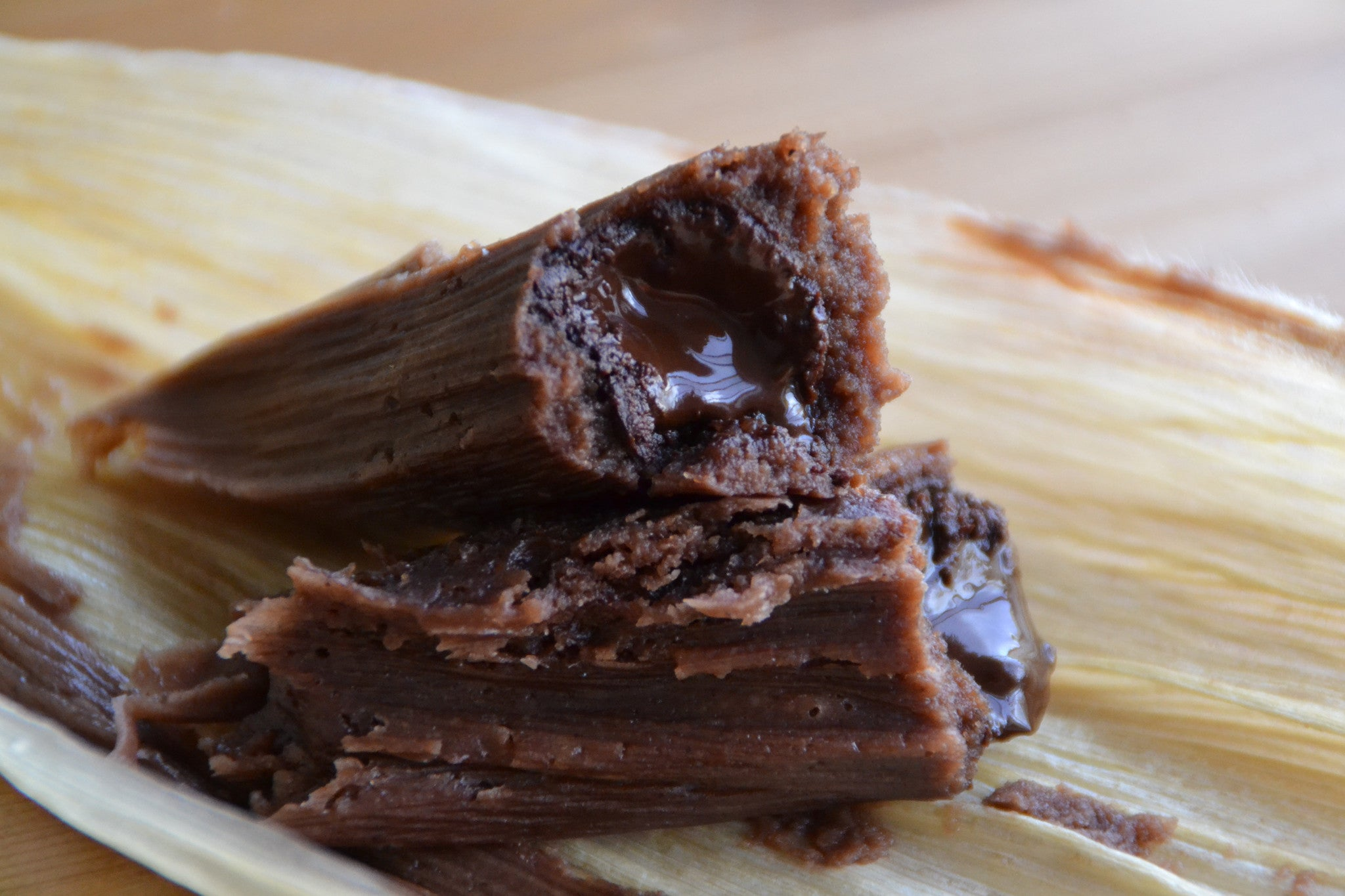 Chocolate Tamales - My interpretation of sweet tamales with Dandelion Chocolate