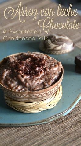 chocolate sweetened condensed milk rice pudding