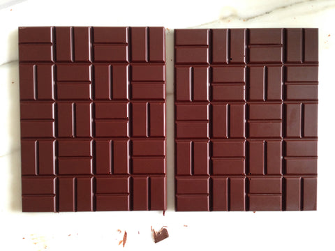 molding chocolate bean to bar