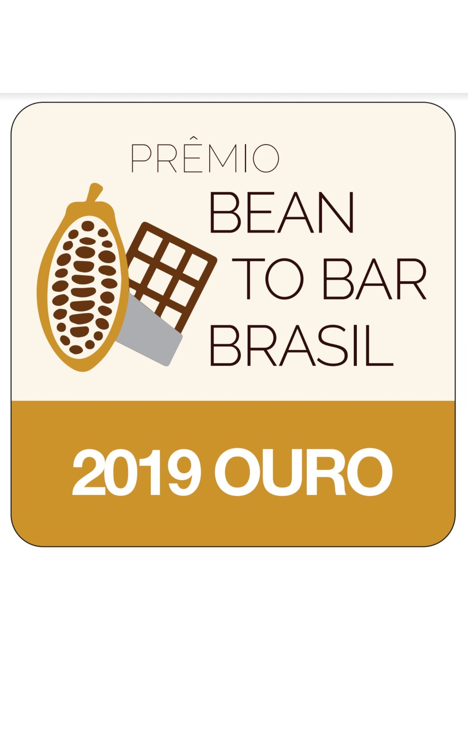 premio bean to bar ouro 2019