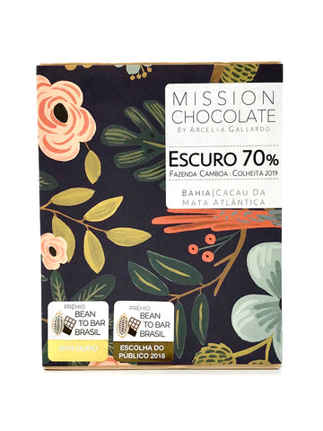 Barra de chocolate escuro 70% da Mission Chocolate