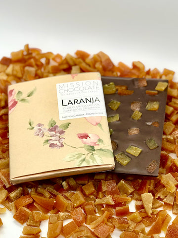 barra de chocolate com laranja