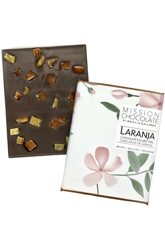 LASCAS DE LARANJA 70%   |  CANDIED ORANGE PEEL  70% 60G