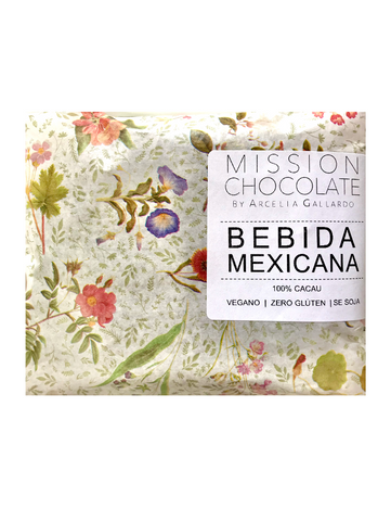 flowered paper with label reading Bebida Mexicana