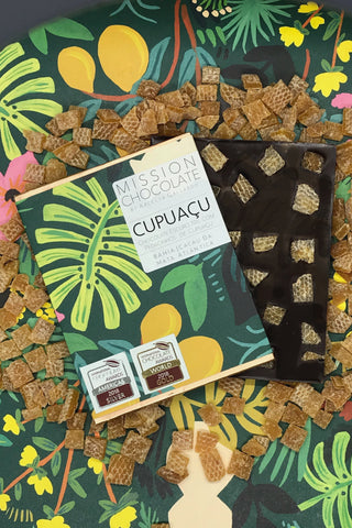 barra de chocolate intenso com cupuaçu