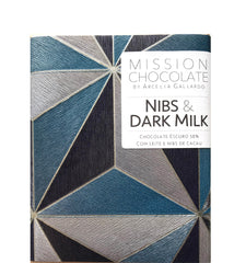 chocolate bar dark milk with nibs