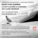 Reset for Summer:  5 Day Cleanse & Ayurvedic Self-care Program