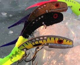 Ice Fishing Echotail Blade Baits