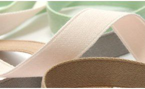 Organic Cotton Double-Face Satin Ribbon (SIC-234)