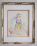 Geoff Pascual sesshomaru original watercolor painting