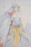 Geoff Pascual sesshomaru original watercolor painting close up