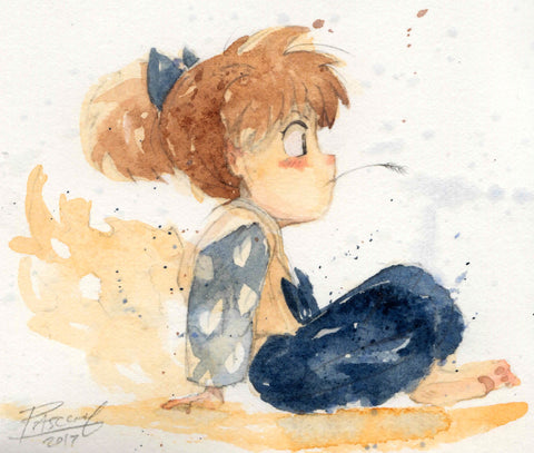 Shippo watercolor paint study
