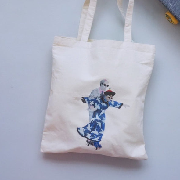 Zishi x GLUE Tote Bag ( Small Blue )