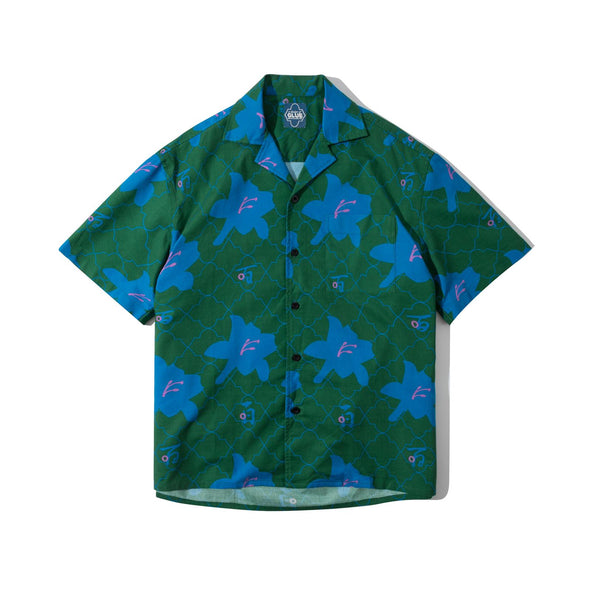 GLUE Cotton Shirt Jacket - Green Lily