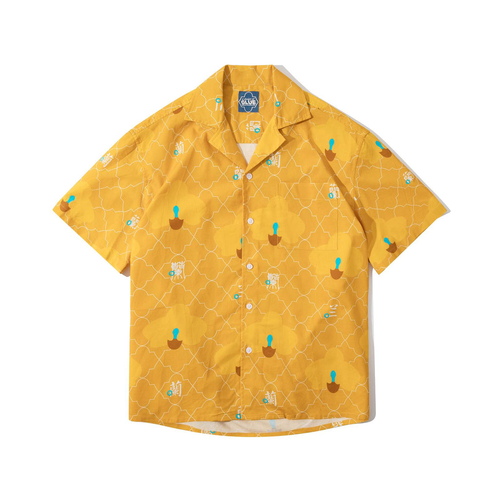 GLUE Original Pattern Shirt Jacket - Yellow Orchid