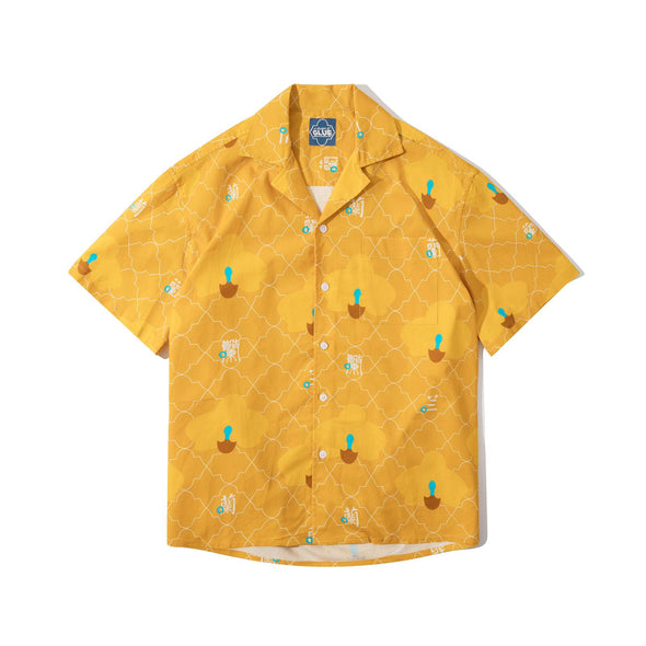 GLUE Cotton Shirt Jacket - Yellow Orchid