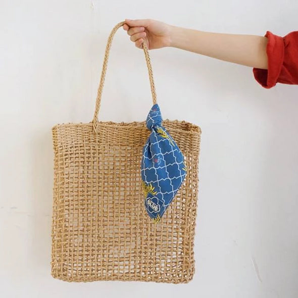 Handweaved bag with scarf