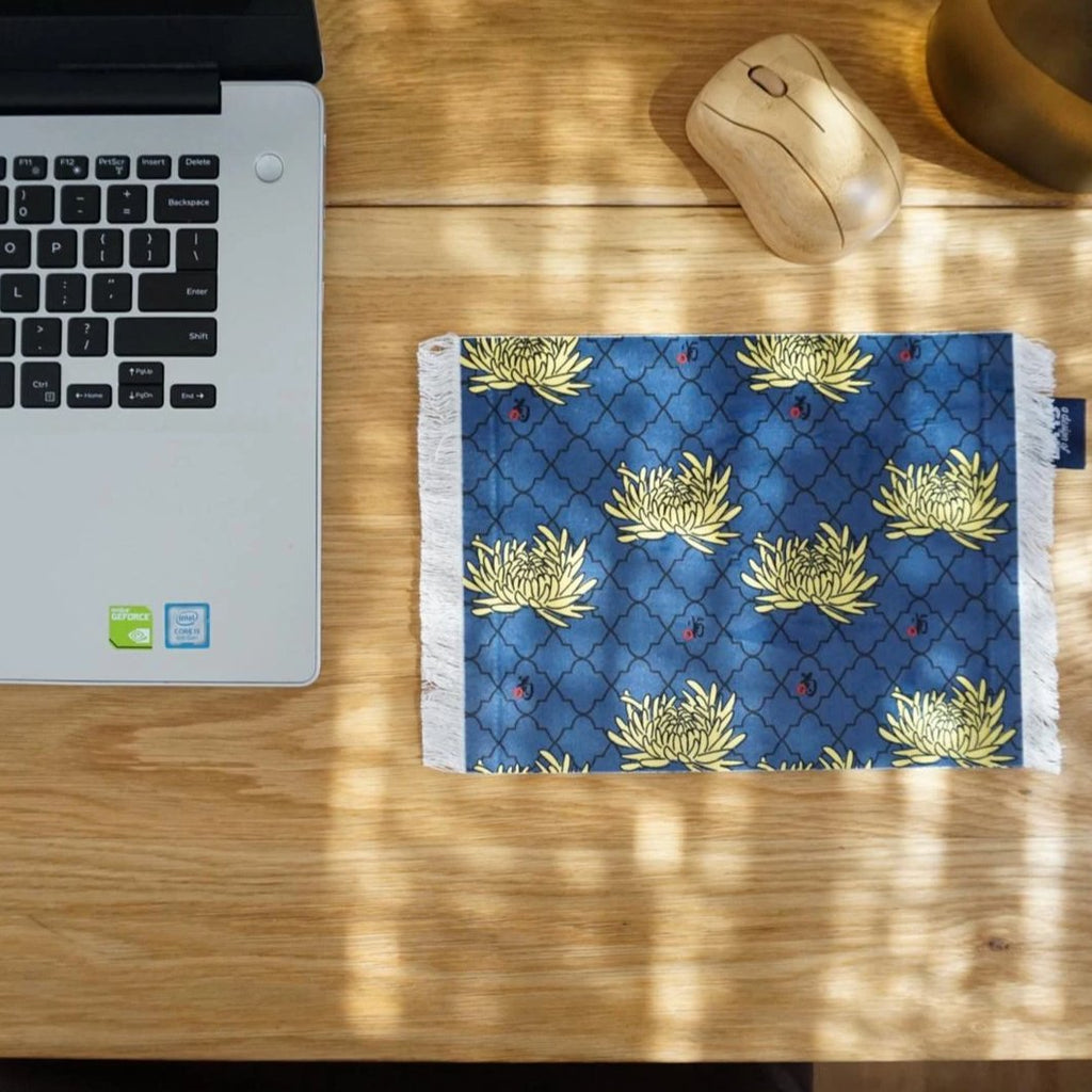GLUE Rug/Carpet Mousepad - colored chrysanthemum