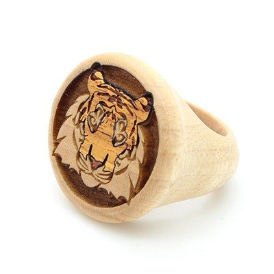Gleamwood Wooden Ring Tiger