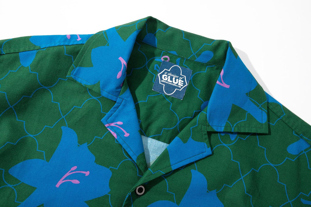 GLUE Original Pattern Shirt Jacket - Green Lily