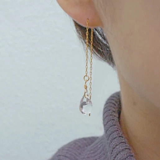 HARIO Handmade Jewelry- Water Drop Earring (HAW-T-002)