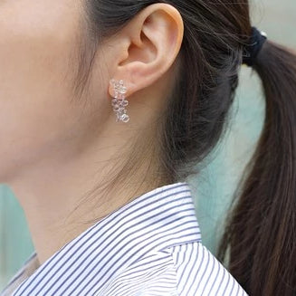 HARIO Handmade Jewelry- Water Drop Earring (HAW-MO-002P)