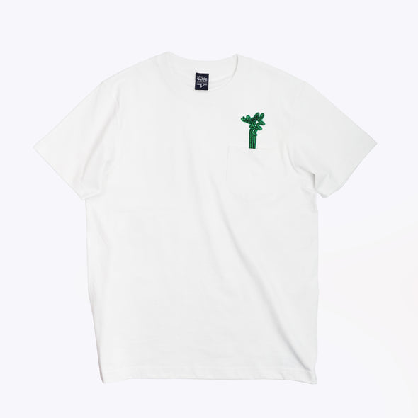 GLUE Seamless T-shirt with Pocket and Lucky Bamboo- White