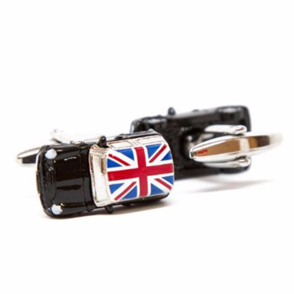 Designer cufflinks - Mini Copper Cufflink - Black