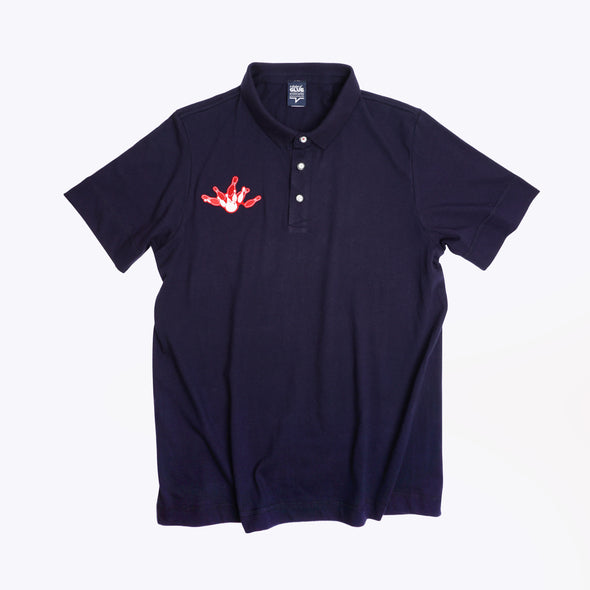 GLUE Seamless Polo Shirt with Bowling - Navy