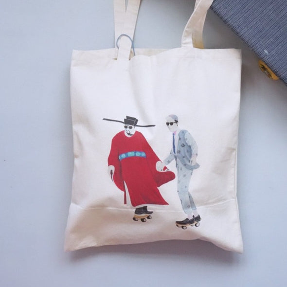 Zishi x GLUE Tote Bag ( Small Red )