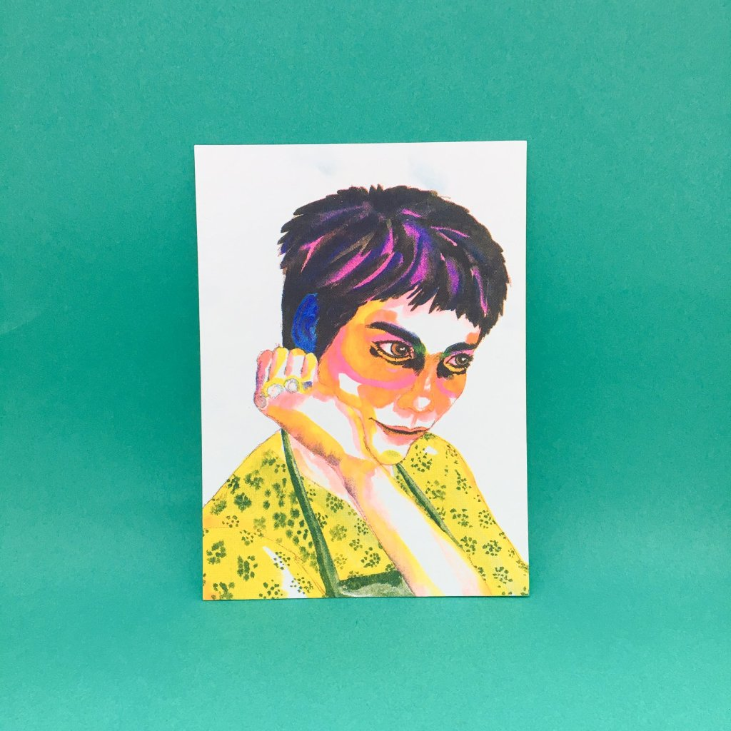 The Great Hong Kong Movie Stars Postcard - Faye Wong (Chungking Express 1994)