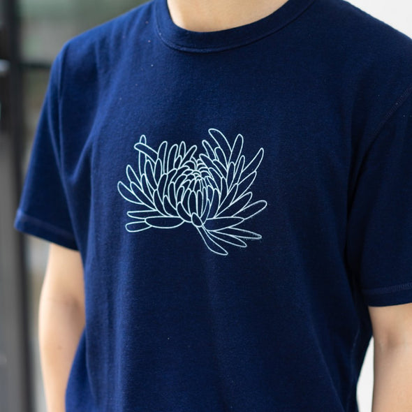Natural Indigo Dye T-shirt (Dark Blue)