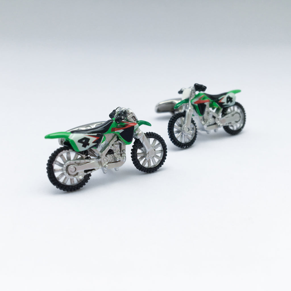 HAND PAINTED MOTOBIKE CUFFLINKS