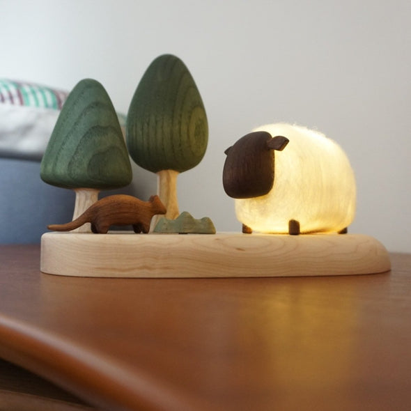 Sheep Night Light in woods