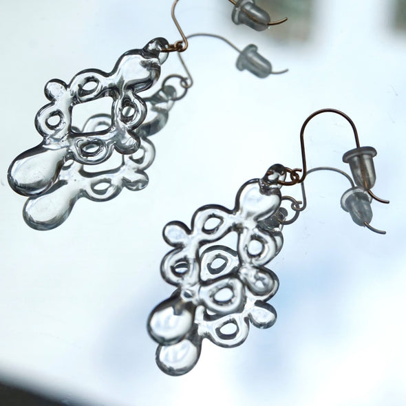 Hario Handmade Jewelry- Cross Flower Earrings (HAL-CF-002P)