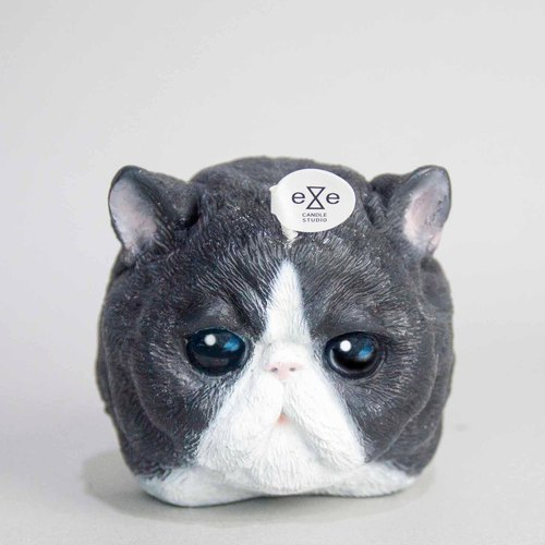Persian Cat Candle-Grey/White
