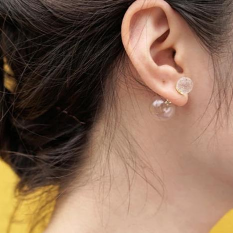 HARIO Handmade Jewelry - Water bubble Earring (HAW-CP-001P)