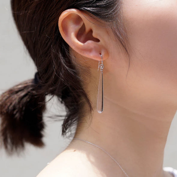 HARIO Handmade Jewelry- Long Water Drop Earrings [Pre-order]