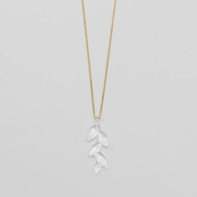 HARIO Handmade Jewelry - Leaf Necklace (HAKD-KN-002N)