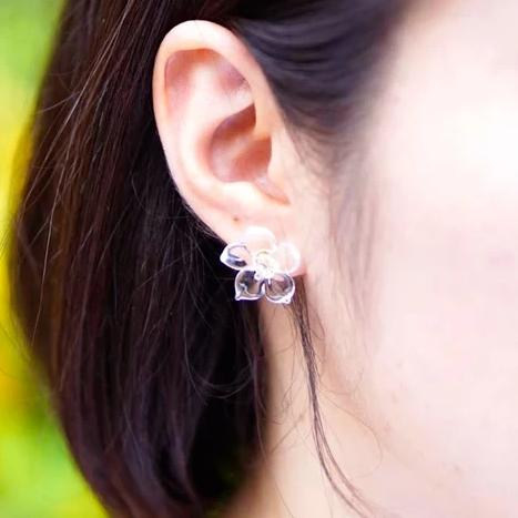 Hario Handmade Jewelry - Big Flower Earrings (HAW-F-004)