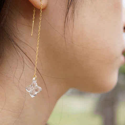 HARIO Handmade Jewelry - Water Flower Earring (HAP-WF-002P)