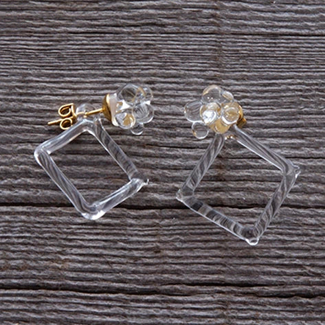 HARIO Handmade Jewelry- Water Drop Earring (HAW-GS-001P)